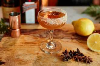 Holiday Sidecar Cocktail
