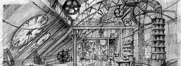 Sketch from Hugo Storyboard