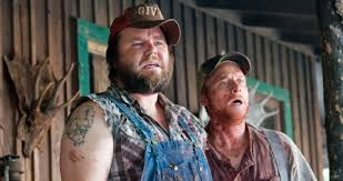 Alan Tudyk and Tyler Labine in a scene from Tucker and Dale Versus Evil