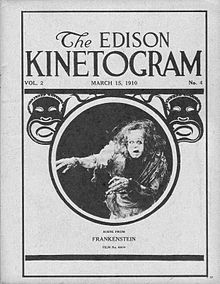 Print from 1910 Frankenstein