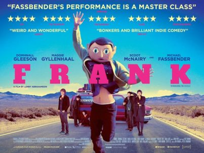 Movie poster of Frank - starring Dominhall Gleeson and Michael Fassbender