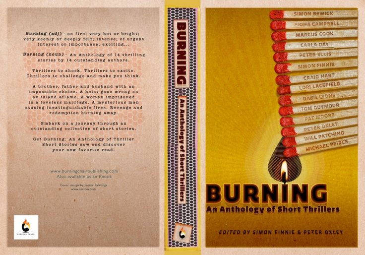 Book Cover for Burning - An Anthology of Short Thrillers - coming very soon