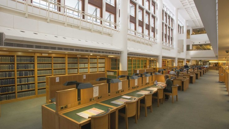 One of the British Library Reading Rooms