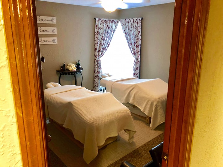 Couples massage room at Be Well Holistic Massage Wellness Center