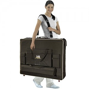 Woman carrying Mobile Massage Table