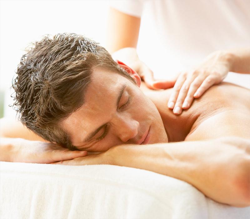 Man getting a massage