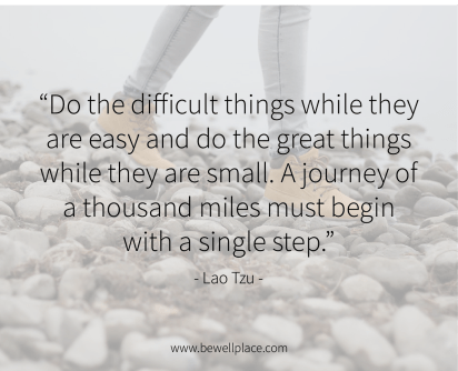 Do the difficult things while they are easy and do the great things while they are small. A journey of a thousand miles must begin with a single step. - Lao Tzu