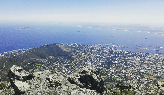 The view from the top of Table Mountain. Photo/ Megan Isaacs