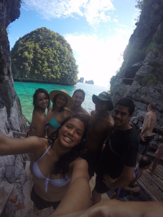 Bye Felicia, we're in Thailand! Nikita Hadskins shares a photo of herself and friends on holiday in Thailand. Photo/ Nikita hadskins
