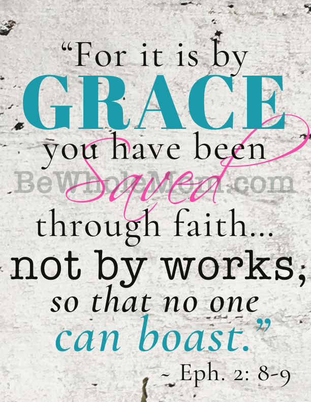 Saved by Grace scripture printable