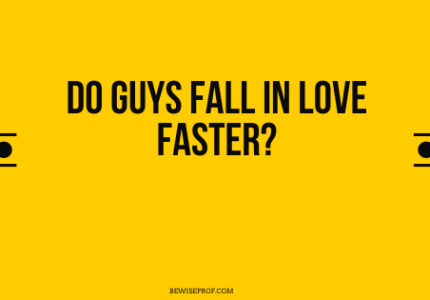 Do guys fall in love faster?