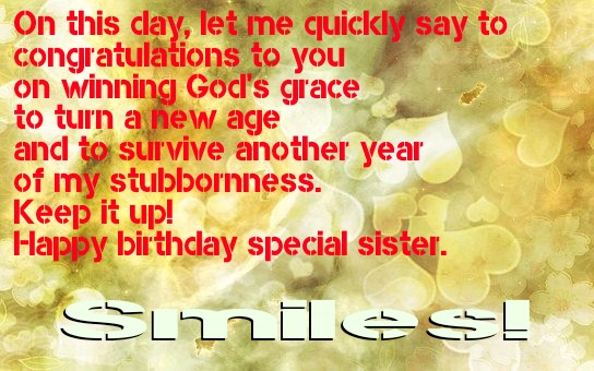 Happy birthday sister Image