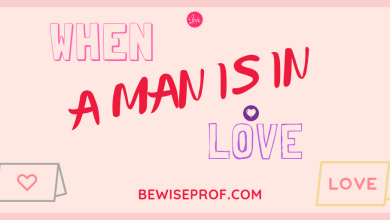 Photo of When a man is in love