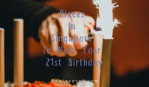Places In Singapore To Host Your 21st Birthday