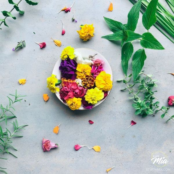 Edible Flowers add beauty in the presentation of compound butter