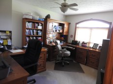 Bedroom two is used as an office.
