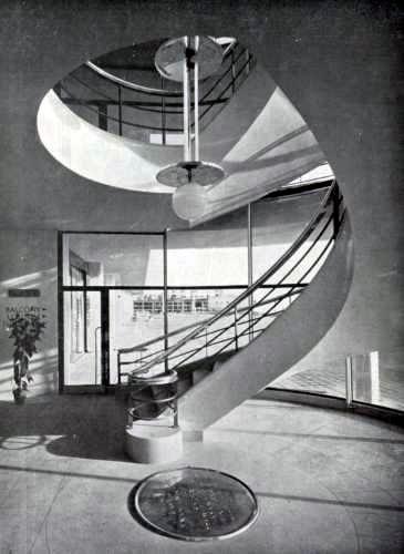 De La Warr Pavilion staircase - 1937