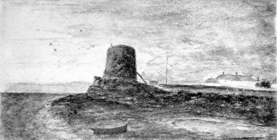 A Martello Tower on Bexhill beach