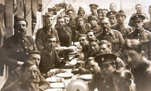 Men of the South Downs Battalions in Training, 1914. Image courtesy of Paul Reed.