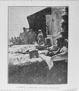 Cooden Beach. Patients and nurses on the terrace. Bexhill Chronicle 29th July