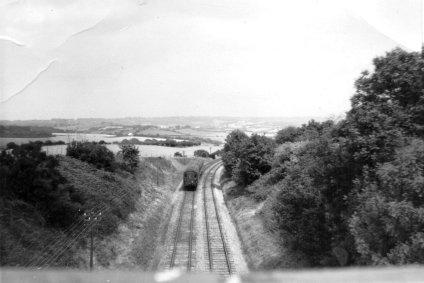 Crowhurst Line, Glovers Lane Bridge c1960