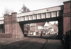 Down Arch railway bridge, Bexhill 1964 east view