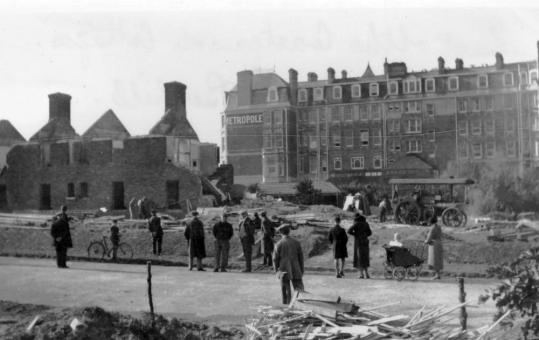 COA-003 - Coastguard Cottages, 22.10.1934 demolition