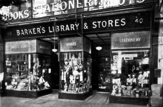 SHO-002 - Barker's Library & Stores, 40 Devonshire Rd, Bexhill c1932