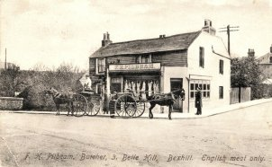 SHO-022 - Pilbeams Butchers, Bexhill c1910