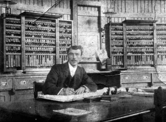 Sidley Station Master, William Sandy in 1920s