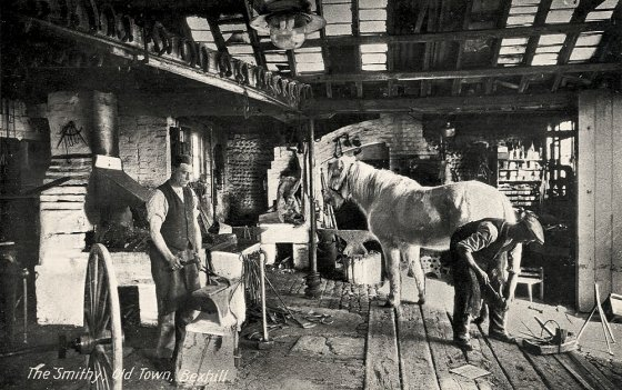 BOT-033 - Smithy, Old Town Bexhill c1910