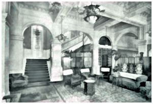 HOT-005 - Hotel Metropole - the Hall, -c1910