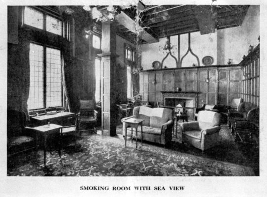 HOT-015 - Metropole Hotel's smoking room - c1910