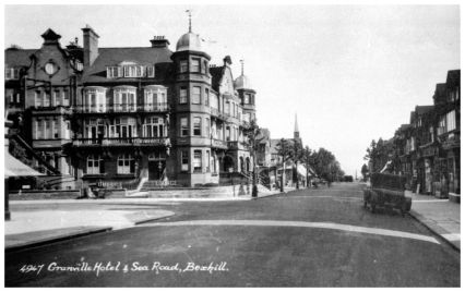 HOT-029 - Granville Hotel and Sea Road, Bexhill, c1925