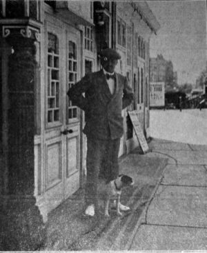 KUR-019 - Kursaal & Claude Johnson with dog, in 1911