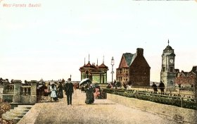 BWP-002 - West Parade, Bexhill (postcard post marked - 5-9-1908)