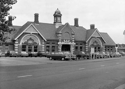 BW-053 - Bexhill West station forecourt in 1968.