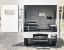 HO-012 - Ambulance interior from rear Reg. no. BDY 647
