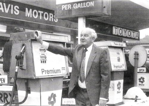 Joe Davis at his petrol pumps