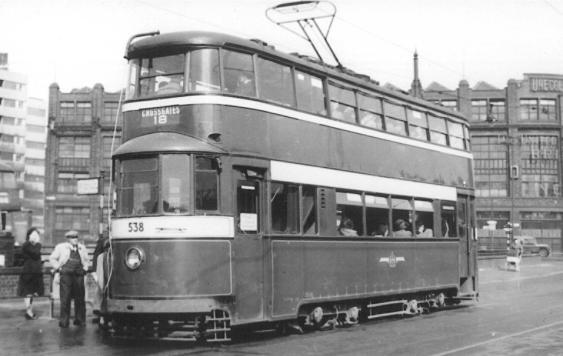 538 exLT2094 MET350 serv 18 to Crossgates 1950s