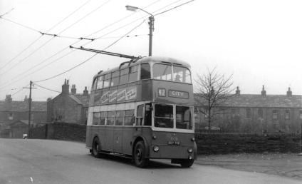 808 BDY798 sericev 42 to city @ Idle 1-4-1960