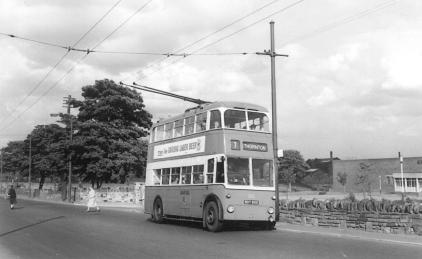 810 BDY800 service 7 to Thornton in Thornton Rd 22-6-1962