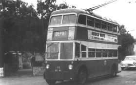 85 BDY807 ex Hastings trolleybus