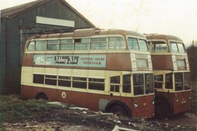 87 BDY810 + 86 withdrawn in depot yard 2-11-1964