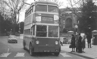 89 BDY815 serv to Barming in town centre