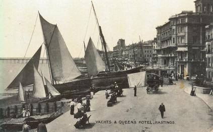 America Ground & Queens Hotel pc 22-4-1919