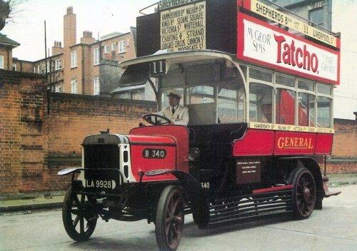 B340 General open top d-d bus b1910-27, LT Museum