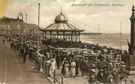 Bandstand & prom, east of White Rock 1913