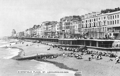 Eversfield Place looking west from pier 1950s