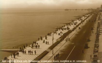 Eversfield Place new promenade 1930s